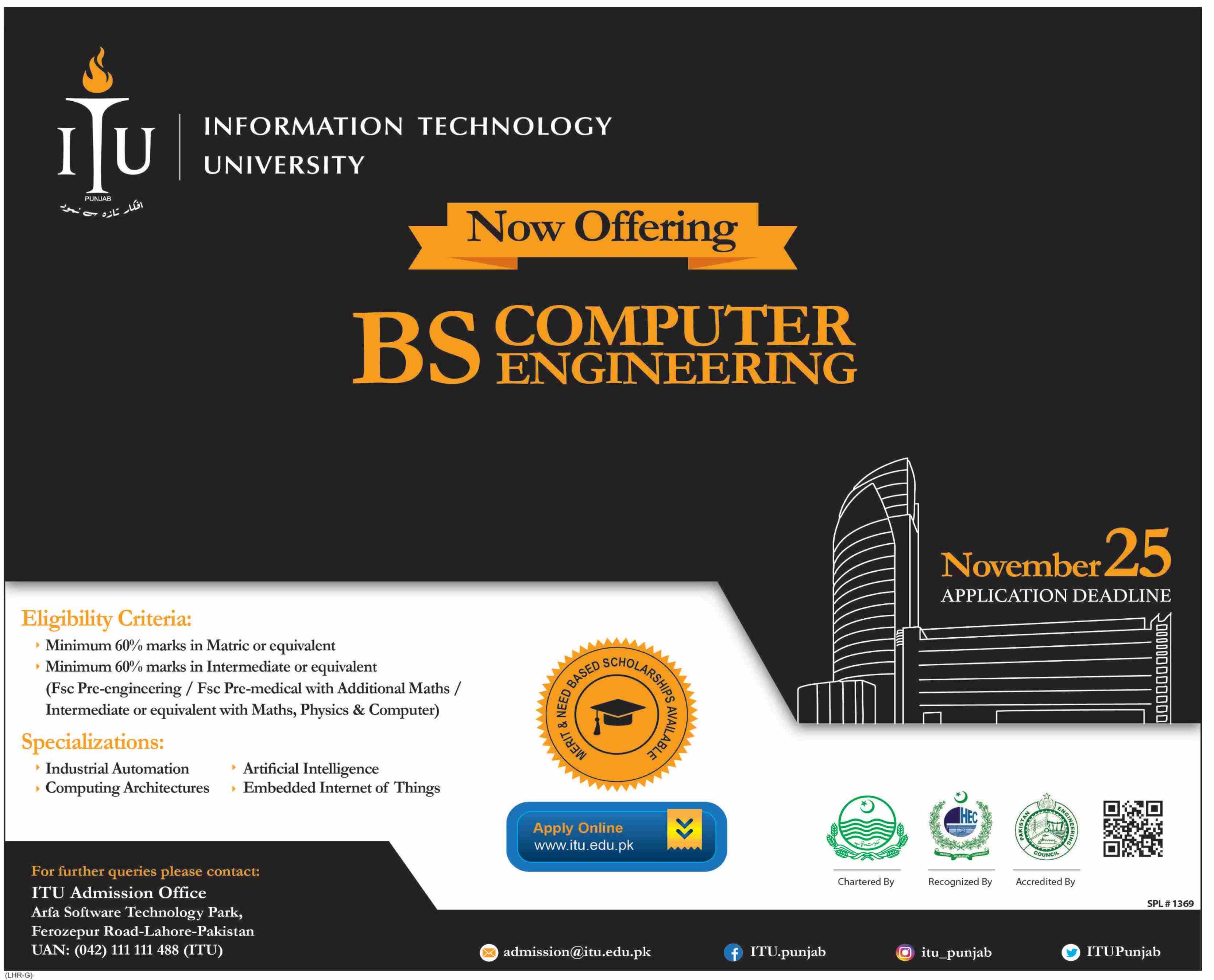Information Technology University Admission 2020