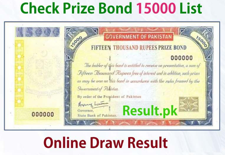 15000 Prize Bond Result draw No 83 2 July 2020 Hyderabad