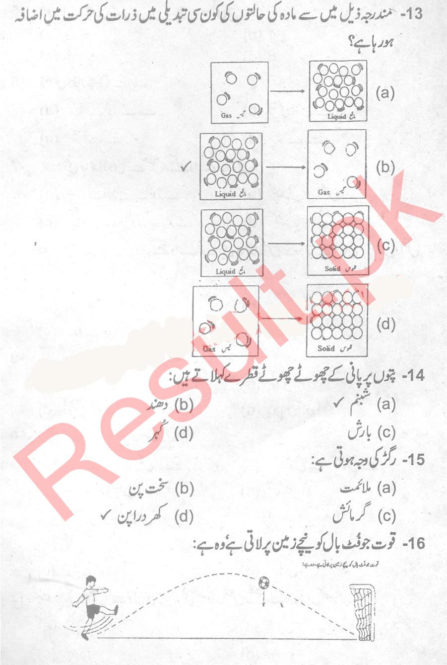 Punjab Education Commission Past Paper 2019 5th Class, Fifth, Grade
