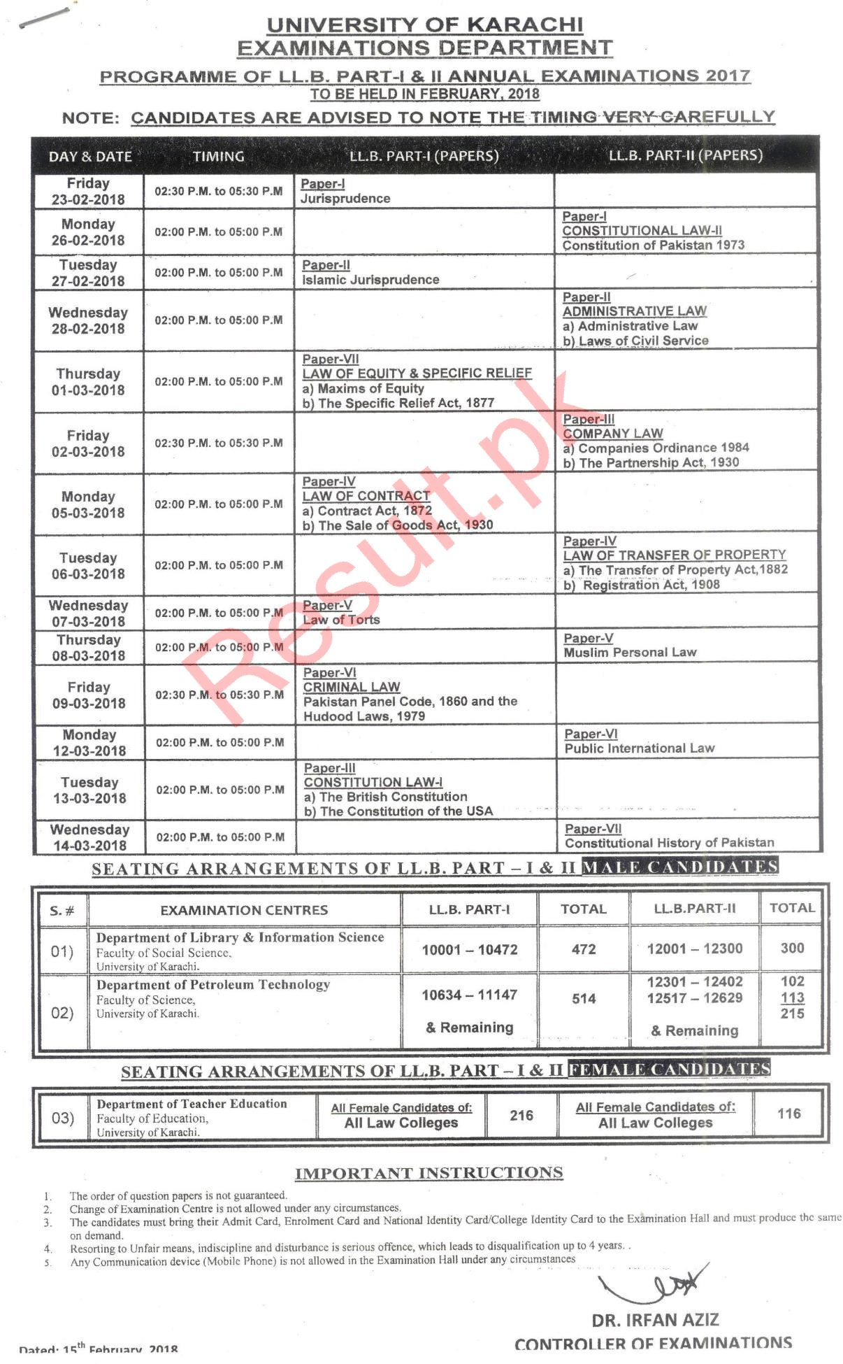 punjab university result b.a part 2 2018