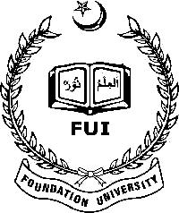 Foundation University Fall Admission 2018