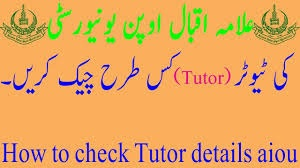 Check AIOU Tutors for Assignments 2019