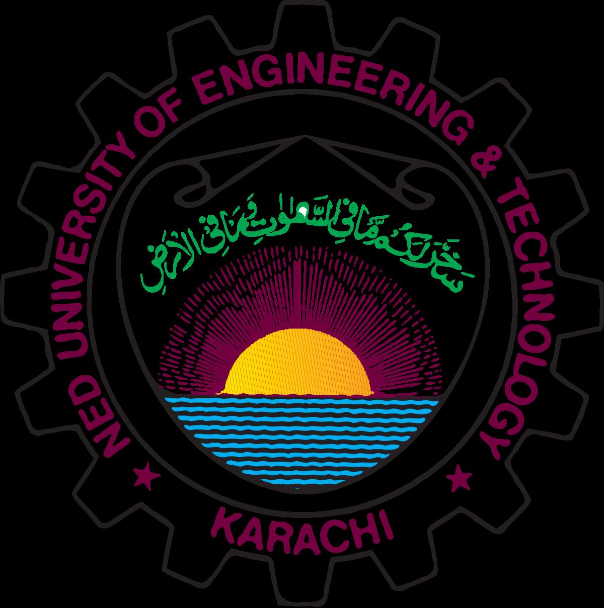NED University of Engineering & Tech Karachi B.A Date Sheet